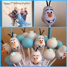 Disney Frozen Cake Pops