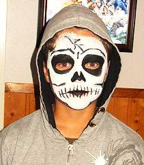 G's skeleton face paint