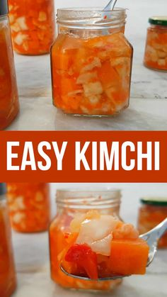Heres an easy kimchi recipe thats vegan and sugar free. Its not a traditional kimchi recipe but its made from just easy to source ingredients. Add a little spice to your dishes with this healthy mix. Fermentation Recipes, Canning Recipes, Canning Tips, Traditional Kimchi Recipe, Sugar Free Recipes, Vegan Recipes, Roh Vegan, Natural Cough Remedies, Vegan Sugar