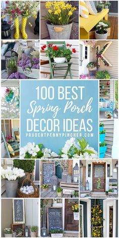Brighten up your front porch for the spring season. From colorful planers to spring wreaths, there is plenty of inspiration for patio and porch decorating ideas. #spring #patio #porch #homedecor #springdecor #diy
