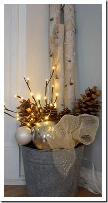 After Christmas Decorations | Decorating for Winter. Great idea- I hate the house looking so bare after the holiday