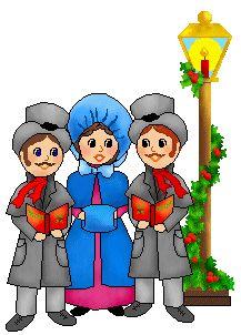 people singing christmas carols clipart free clip art images rh pinterest com vintage christmas carolers clipart christmas carolers clipart