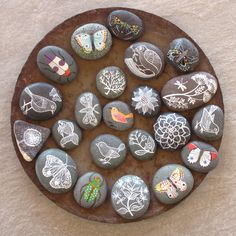"""I made my rocks inspired on these, but instead of these lovely drawings,I wrote some pretty words, reminders, like """"Trust in the Lord"""", """"Die to Self"""", """"Give Thanks"""", """"Sing to the Lord"""", etc. I only used a white marker and I am looking forward to make more adding more colors. These are very, very easy to make, and you don't make any messes. It is a fun family project; my 8yo girl is enjoying making hers too. I will definitely make more to give away on Christmas and birthdays. You can see my…"""