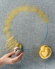 GREAT needle felting tutorial for felting with felt pieces and roving.