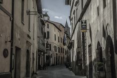 Sarteano Street in Italy - photograph by I. M. Ganescu