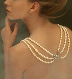 #Draping #Pearl #Necklace <3