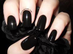 Chanel Black Satin 219