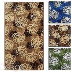 Tappeto Moderno Rose Fiori Vari Colori e Dimensioni Soggiorno Scendiletto SARANI