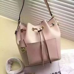 829bb5ea41890c MICHAEL Michael Kors Greenwich Small Saffiano Leather Bucket Bag Pink
