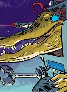 Rick and Morty - Vindicators - Crocubot - Colorworld Another amazing Vindicator from Rick and Morty. Crocubot was made by Garrett Richert @garrettrichert.     #RickandMorty #Vindicators #Crocubot