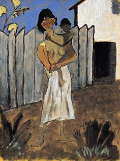 Otto Mueller (Germany 1874-1930) Gypsy with Child in her Arms, Hungary (1925)gouache and ink on paper 66.5 x 49.5cmPrivate Collection