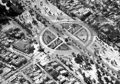 Cruce Insurgentes Nte. y Av. Montevideo a finales de los 40s.