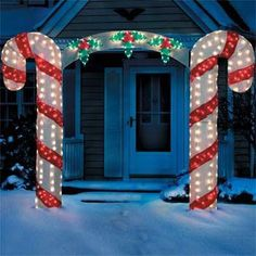 Outdoor Lighted Candy Canes: Candy Cane Lighting for Christmas Celebration,Lighting