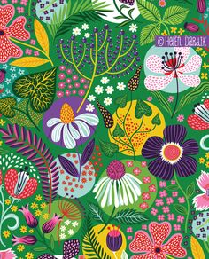 trends news inspirations about patterns prints and surface from fashion interior design textiles paper goods illustration books arts Art And Illustration, Floral Illustrations, Surface Pattern Design, Pattern Art, Textile Patterns, Print Patterns, Floral Patterns, Doodle Patterns, Motif Oriental