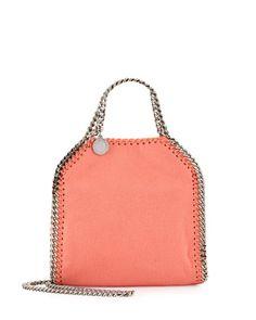 V2XPE Stella McCartney Tiny Bella Chain Crossbody Bag, Peony Pink