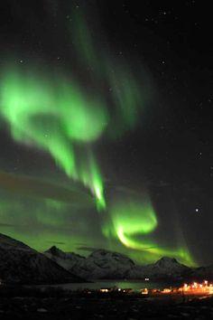 Above Tromsoe, North Norway 1/24/12