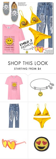 """Emoji"" by paculi ❤ liked on Polyvore featuring Rosie Assoulin, Moschino, Summer, casual and emojifashion"