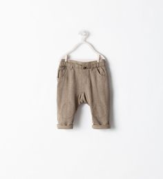 Image 1 of TAN TROUSERS from Zara