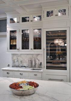 sub-zero wolf wine refrigerator // gourmet kitchen #kitchens #blogtourvegas