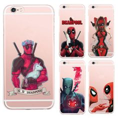 Anime Marvel Soldier Deadpool Back Case For iPhone 6 Plus Case Marvel Comics Superhero Silicone Phone Cover Fundas Iphone 6, Iphone 7 Plus Cases, Apple Iphone, Marvel Comics, Deadpool, Phone Case Store, Monkey Pictures, Iphone Gadgets, Baby Cartoon
