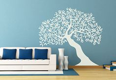 Tree Leaning Wall Decal - Great Home Decoration for Tree Huggers