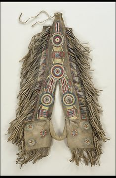 Quilled horse crupper, probably Red River Metis, Manitoba, Canada, circa 1850