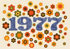 Seventies 1978 Cool birthday invitation with typical Seventies flowers and number 1978 in jeans look 1970s Party, 70s Rock And Roll, 70s Decor, Happy 40th, Happy Birthdays, Retro Advertising, Anniversary Parties, Wedding Anniversary, Peter Rabbit