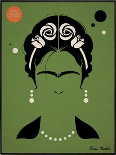 Awesome vector illustration that showcase the importance of symbolism, even in this most recent of art forms. Diego Rivera, Minimal Art, Kahlo Paintings, Frida And Diego, Frida Art, Kunst Poster, Modern Artists, Minimalist Poster, Art And Illustration