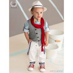 Βαπτιστικό Ρούχο για Αγόρια Γκρι με Σιέλ Bonito 18104. Ρούχα Για Αγόρια f85757ba99e
