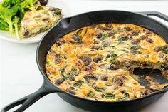 Baby Kale, Mushroom, and Feta Frittata