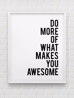 motivational wall decor // do more of what makes you happy print // black and white home decor print // inspirational wall art by spellandtell on Etsy Motivational Wall Art, Inspirational Wall Art, Wall Quotes, Happy Quotes, Me Quotes, Qoutes, Quotes Positive, The Words, What Makes You Happy