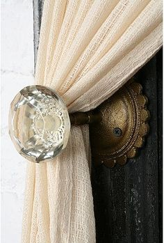 curtain tie back for girl's room