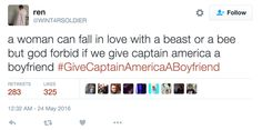 People On Twitter Are Asking Marvel To Give Captain America A Boyfriend