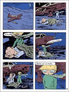 p. 5 Le petit Prince (Joann Sfar) - Ed. Gallimard 2008. Adaptation de l'oeuvre originale (1943) d' Antoine de Saint-Exupéry