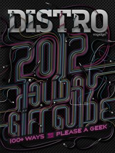 Distro – 2012 Holiday Gift Guide Cover - Luke Lucas – Typographer | Graphic Designer | Art Director
