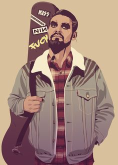 Khal Drogo Game of Thrones characters re-imagined in 80s/90s style Illustrations by Mike Wrobel