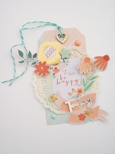 "Never Cut the Scrap!: ""Be happy"" tag. #mymindseye #scrapbooking"