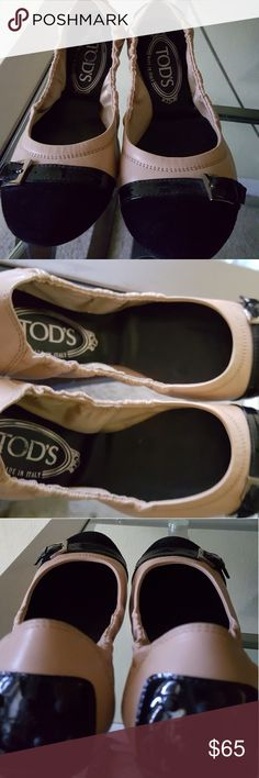 Tod's flats loafers ballet shoes - Size 36 Tod's woman's shoes flats loafers ballet black patent suede size 36. 100% authentic. Made in Italy . Like New , worn only 2 times. No box or dustbag. Tod's Shoes