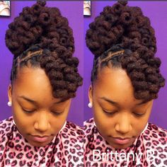 Beautiful Loc Updo Locs In 2019 Short Locs Hairstyles Curl Styles, Updo Styles, Curly Hair Styles, Natural Hair Styles, Locs Styles, Short Locs Hairstyles, Black Girls Hairstyles, Elegant Hairstyles, Dreads Styles For Women
