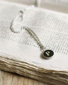 Typewriter Key Necklace - http://www.sweetpaulmag.com/crafts/typewriter-key-necklace #sweetpaul