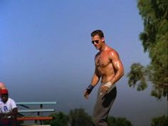 Every woman who was an adolescent in the 80s knows exactly what you are talking about when you say Top Gun Volleyball Scene.  Classic.