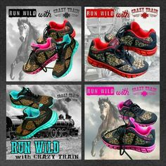 ❤Run Wild Tennis Shoes❤ By Outlaw Cowgirl Creations