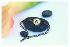 7mm Rem Mag Adjustable Bracelet - Antique Brass