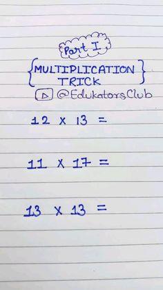 Math Strategies, Math Resources, Math Activities, Simple Math, Basic Math, Math For Kids, Fun Math, Math Help, Cool Math Tricks