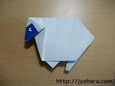 B origami nagy állat háromféle (Kirin birka, szarvas) _html_ff0df83