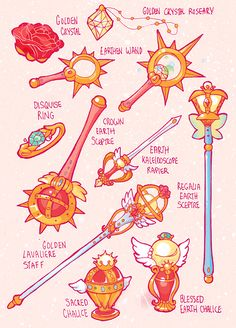 – Sailor Items and Weapons for all 5 arcs My... - Doujinshi by Azure and Copper