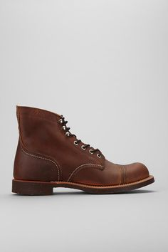 """Do some serious work in these. Red Wing 6"""" Iron Ranger Boot #urbanoutfitters #redwing  Do they have these for girls please?"""