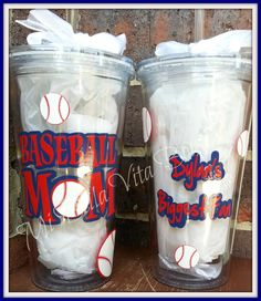 Baseball MOM Tumbler Personalized 20 oz by MiBellaVitaBoutique, $14.50