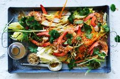 Prawn and cabbage salad with sesame dressing <a ...