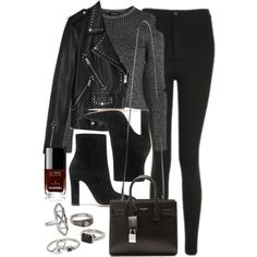 Style #11629 by vany-alvarado on Polyvore featuring Topshop, AllSaints, Gianvito Rossi, Yves Saint Laurent, Chanel and Mudd